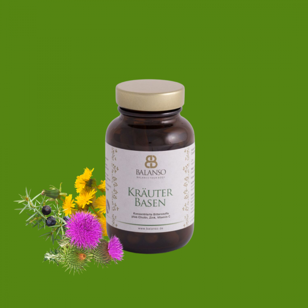 KräuterBasen 60 Stück - Beste Bitterstoffe für die Leber