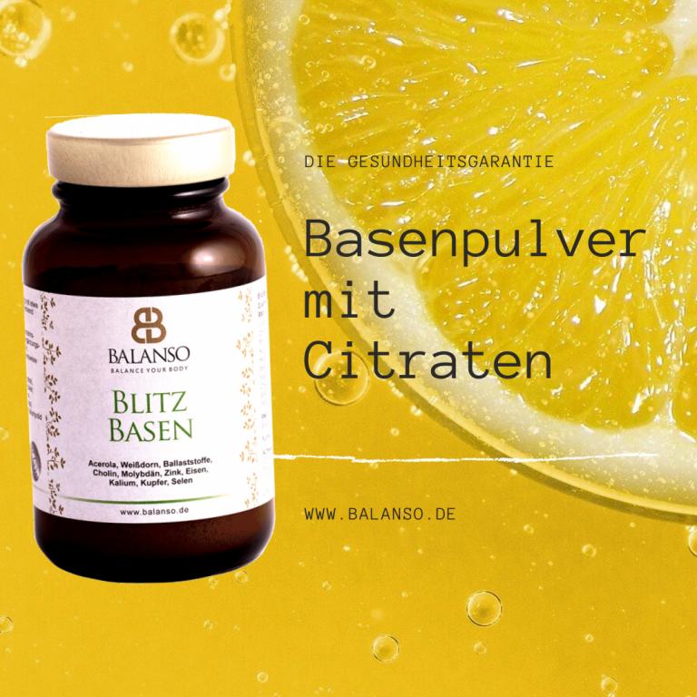 Wirkung von Basenpulver mit Citraten