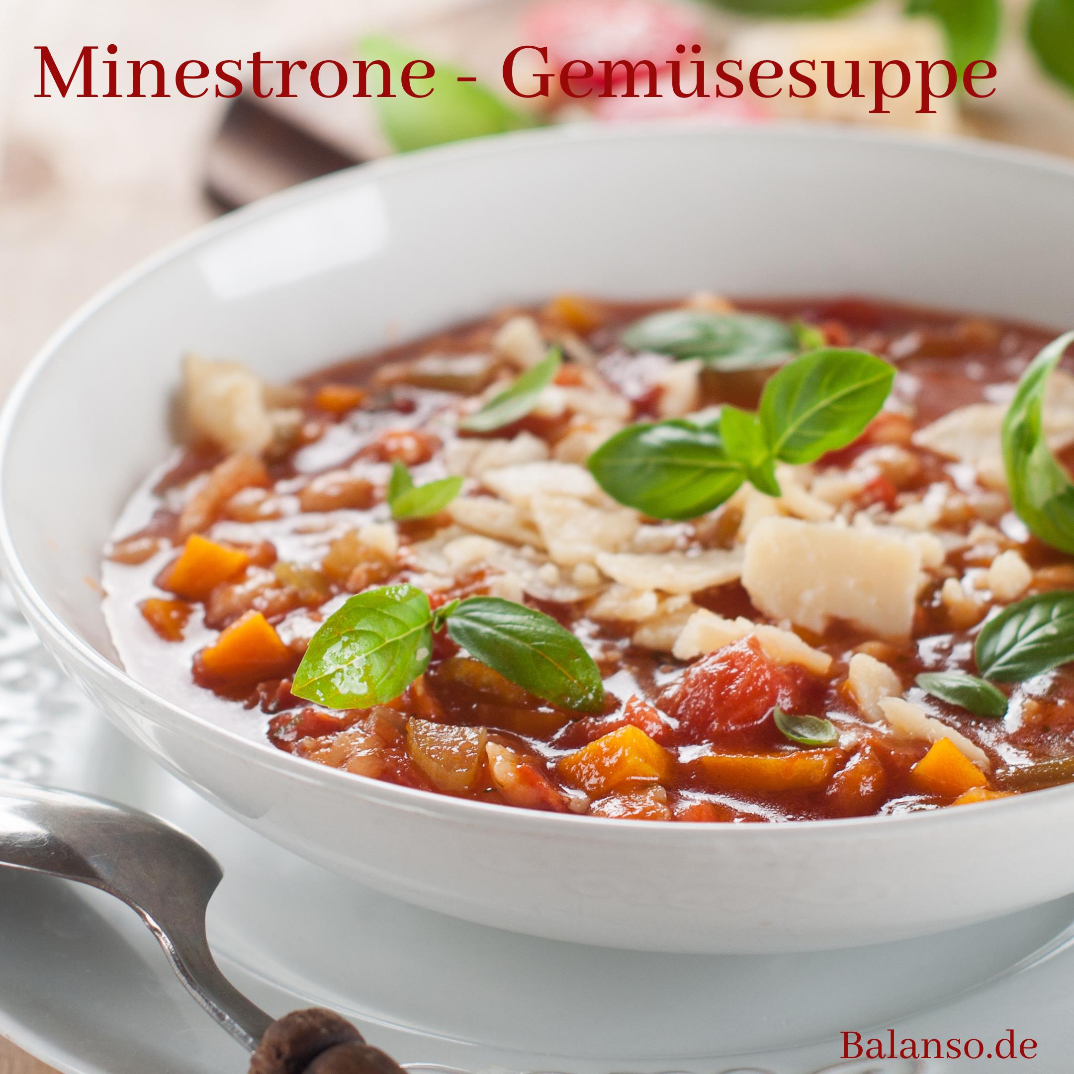Minestrone – Gemüsesuppe